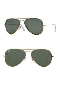 Ray-Ban RB3025 62MM Original Aviator Polarized Sunglasses