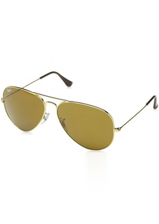 Ray-Ban Original Aviator Sunglasses (RB3025) /Brown Metal - Non-Polarized - 62mm