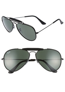 Ray-Ban Outdoorsman 58mm Aviator Sunglasses