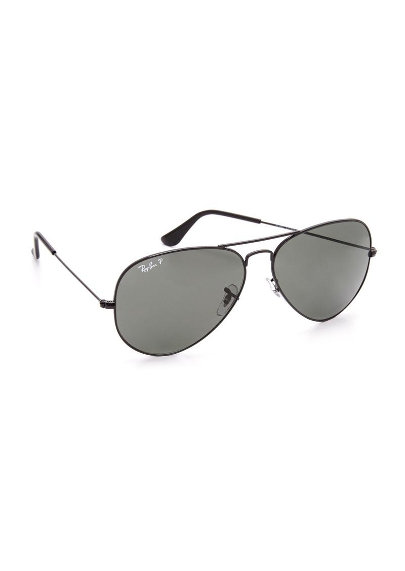 7094c8747b Ray-Ban Ray-Ban Oversized Polarized Aviator Sunglasses