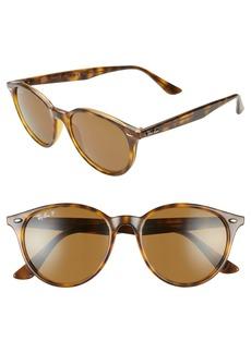 Ray-Ban Phantos 53mm Polarized Round Sunglasses