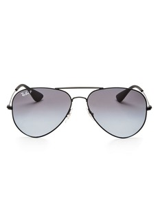 Ray-Ban Unisex Polarized Aviator Sunglasses, 58mm