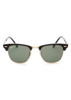 Ray-Ban Unisex Polarized Classic Clubmaster Sunglasses, 51mm