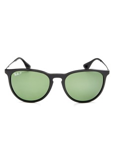 Ray-Ban Unisex Polarized Erica Round Sunglasses, 54mm