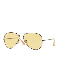 Ray-Ban Polarized Metal Aviator Sunglasses