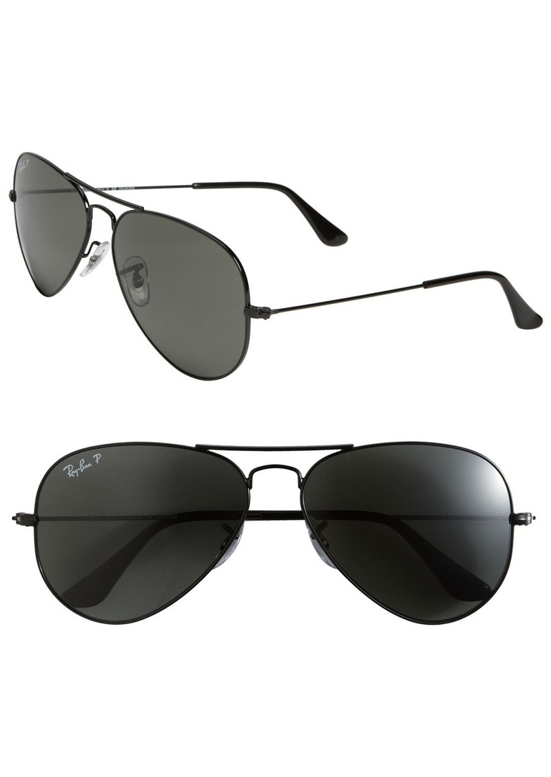Ray-Ban 'Polarized Original Aviator' 58mm Sunglasses