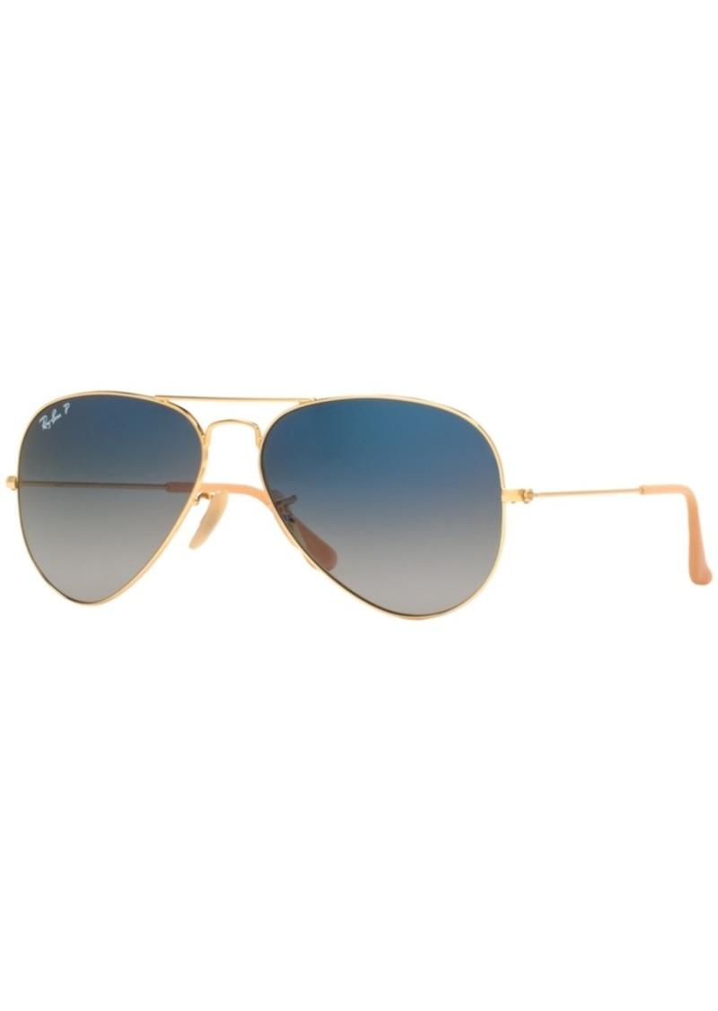 Ray-Ban Polarized Sunglasses, RB3025 Aviator Gradient