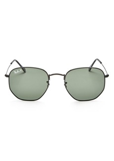 Ray-Ban Unisex Polarized Icons Hexagonal Sunglasses, 54mm