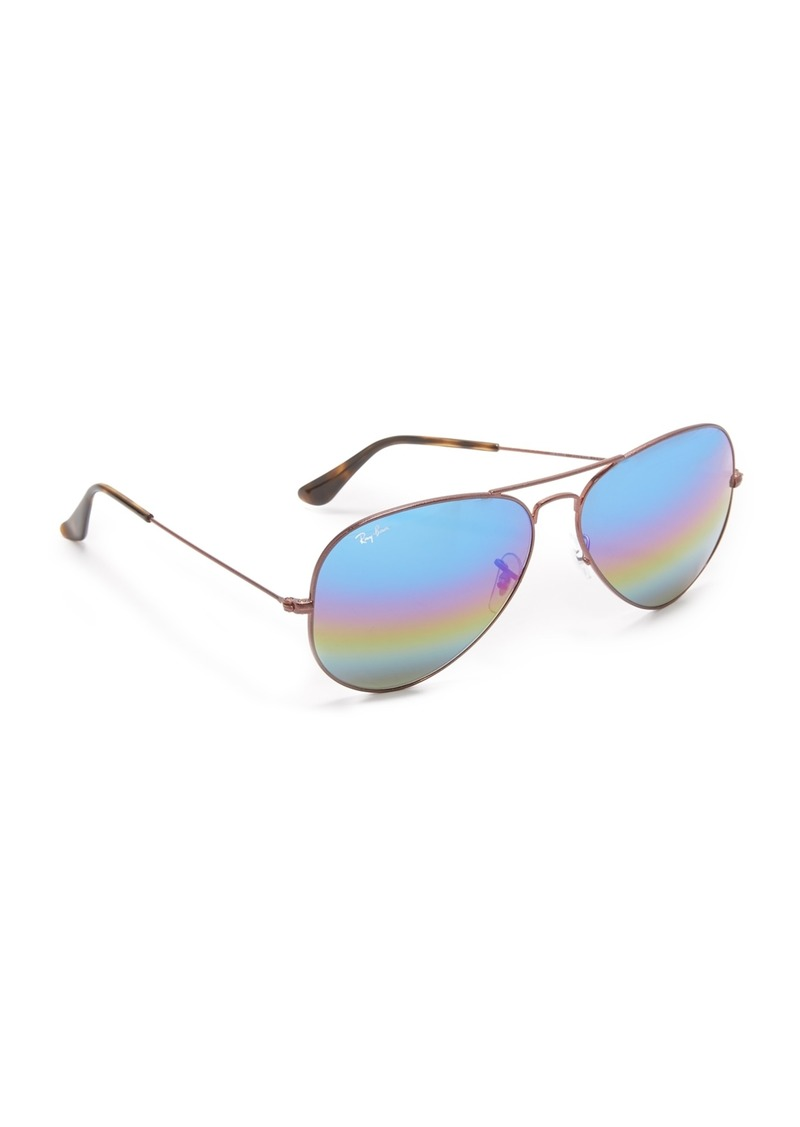 f487212b69 Ray-Ban Ray-Ban Rainbow Mirrored Aviator Sunglasses
