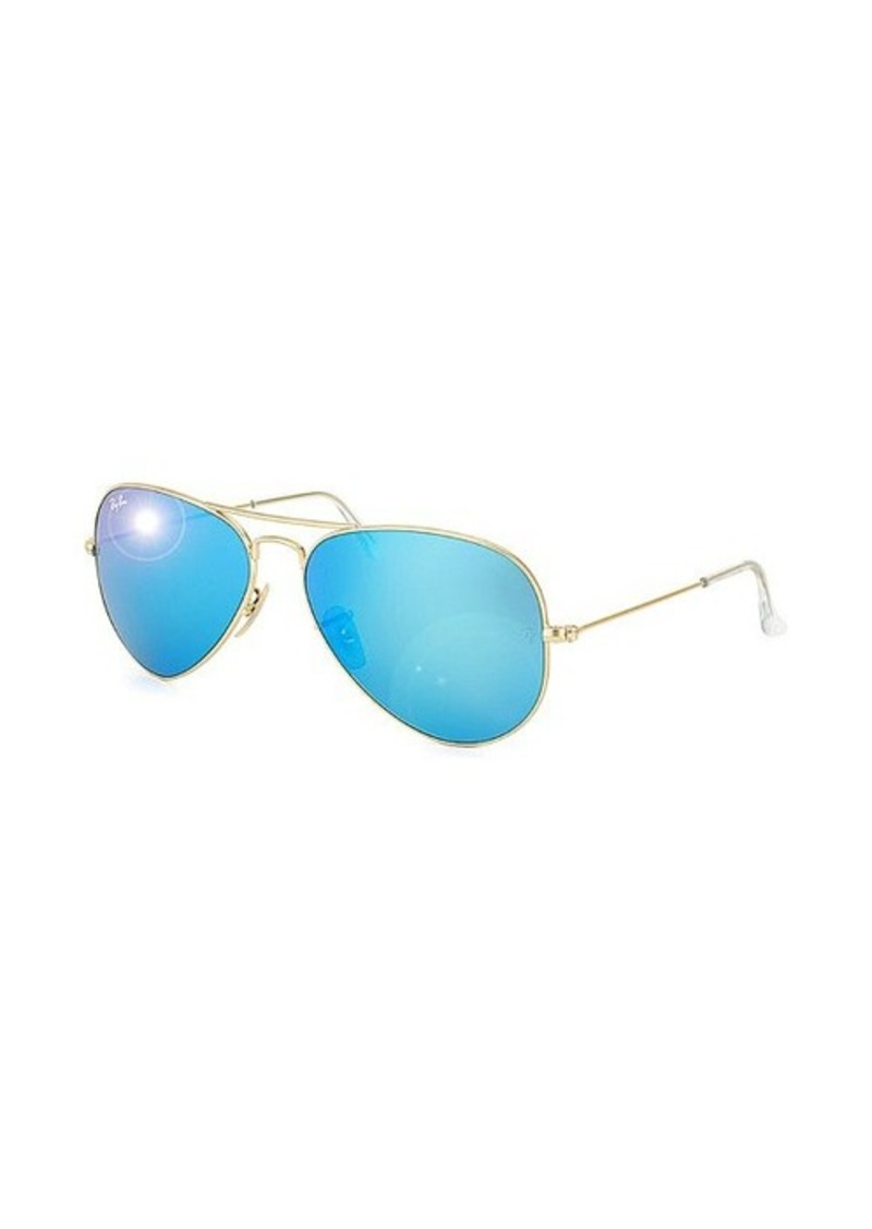 f30ab7e0db 58mm Aviator Large Metal Sunglasses In Gold   Mirror Orange ...