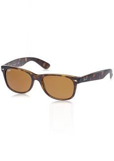 Ray-Ban RB2132 New Wayfarer Sunglasses 55mm Light Havana Frame/Crystal Brown Lens
