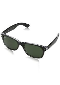 Ray-Ban rb2132 Unisex New Wayfarer Polarized Sunglasses /Crystal Green 52mm