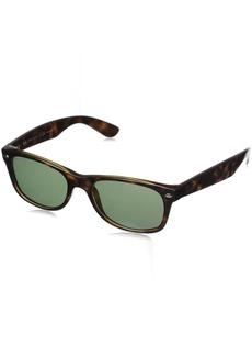 Ray-Ban rb2132 Unisex New Wayfarer Polarized Sunglasses Tortoise/Crystal Green