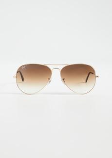 Ray-Ban RB3025 Oversized Classic Aviator Gradient Sunglasses