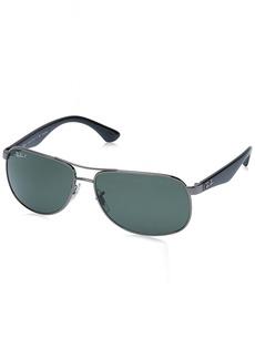 Ray-Ban RB3502 004/58 Polarized Aviator Sunglasses 61mm