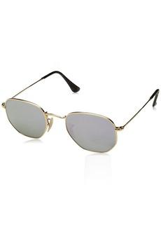 Ray-Ban RB3548N 001/8O Non-Polarized Hexagonal Sunglasses /Lilac Mirror