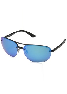 Ray-Ban RB4275CH Chromance Lens Square Sunglasses /Blue Mirror Lens (601/A1)