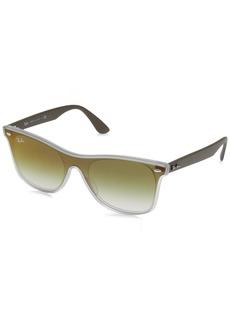 Ray-Ban RB4440N Blaze Wayfarer Sunglasses Transparent Green / Green Gradient  Mirror  Non-Polarized