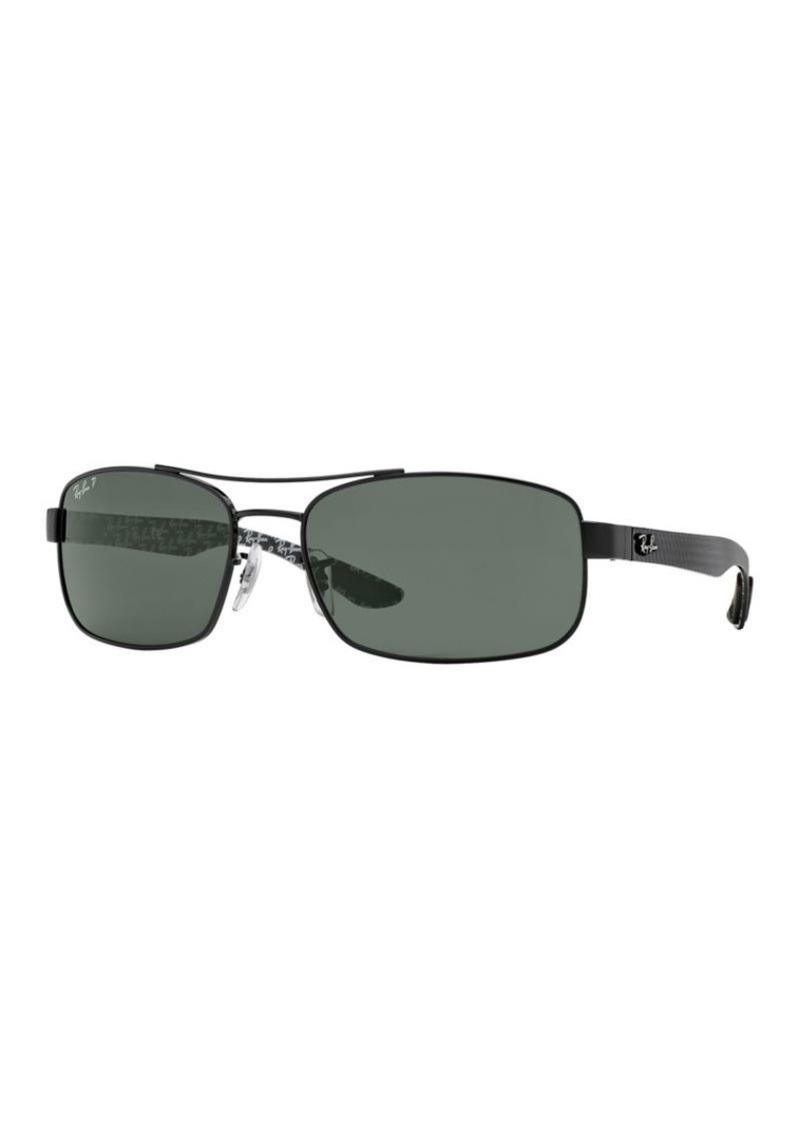 e9f9877fba Ray-Ban Ray-Ban RB831662 Logo-Temple Rectangular Sunglasses