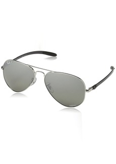 Ray-Ban RB8317CH Chromance Lens Aviator Sunglasses /Silver Mirror Lens (003/5J)