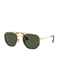 Ray-Ban Rectangle Steel Monochromatic Sunglasses