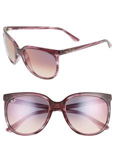 Ray-Ban 57mm Retro Cat Eye Sunglasses