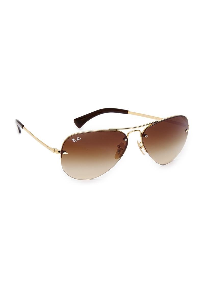 5a84b4c713ff2 Ray-Ban Ray-Ban RB3449 Classic Aviator Rimless Gradient Sunglasses ...