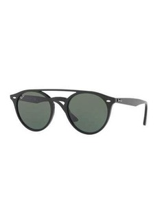 Ray-Ban Round Brow-Bar Sunglasses