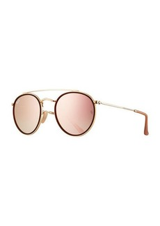 Ray-Ban Round Double-Bridge Flash Sunglasses