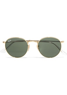 Ray-Ban Round-frame gold-tone sunglasses