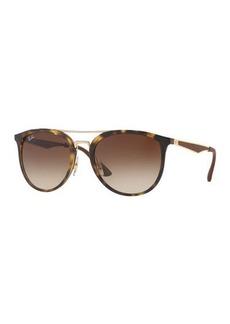 Ray-Ban Round Gradient Brow-Bar Sunglasses