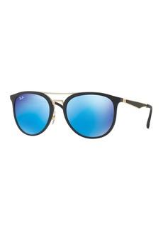 Ray-Ban Round Iridescent Brow-Bar Sunglasses