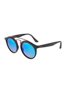 Ray-Ban Round Plastic Havana Sunglasses