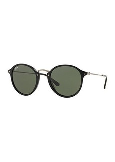 Ray-Ban Round Plastic/Metal Sunglasses