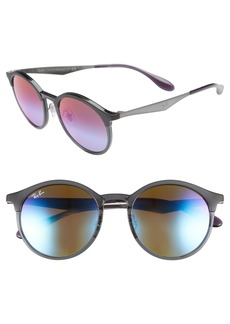 Ray-Ban Solid 51mm Round Sunglasses