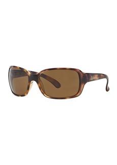 Ray-Ban Square Polarized Plastic Sunglasses