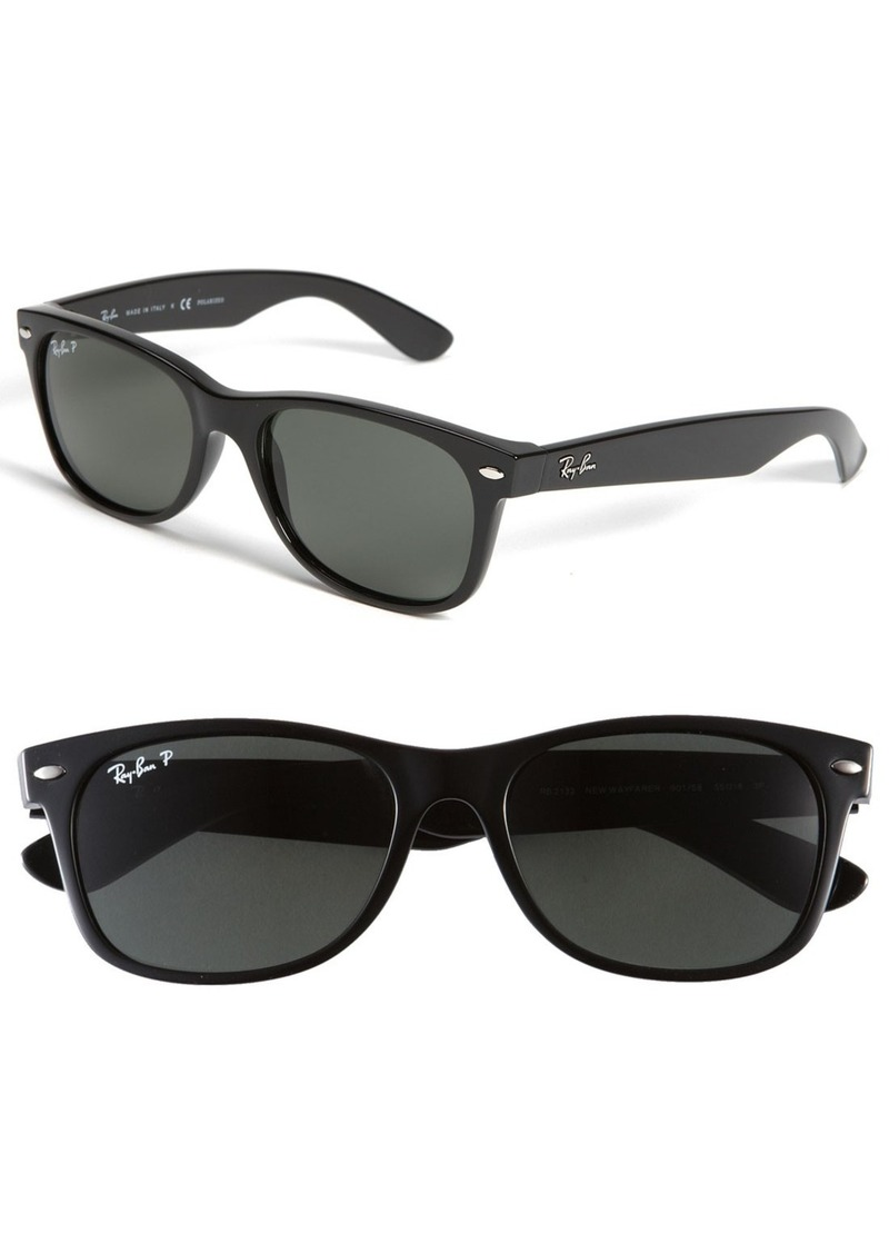 Ray-Ban Standard New Wayfarer 55mm Polarized Sunglasses