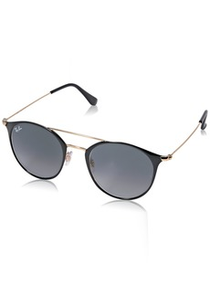Ray-Ban Steel Unisex Sunglass Round Gold TOP Black