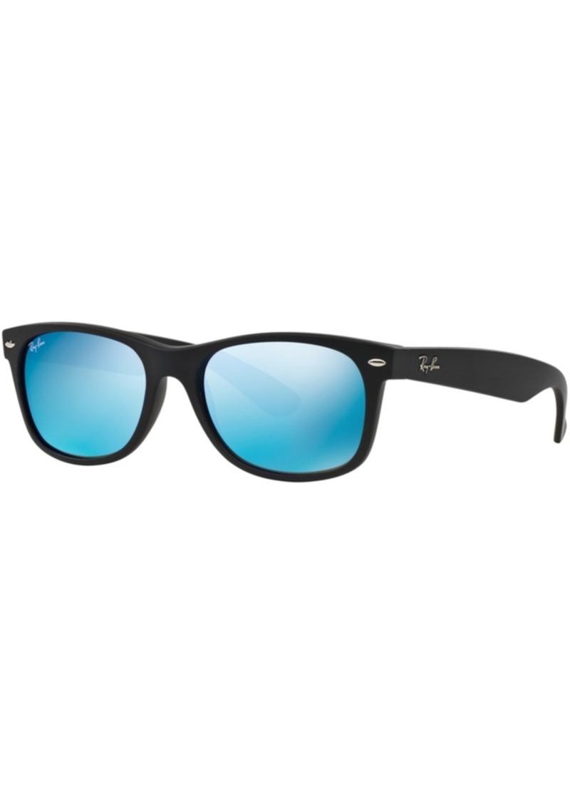 Ray-Ban New Wayfarer Mirrored Sunglasses, RB2132 55