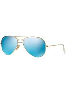 Ray-Ban Original Aviator Mirrored Sunglasses, RB3025 55