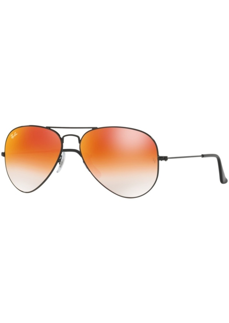 Ray-Ban Sunglasses, RB3025 58 Original Aviator Gradient Mirrored