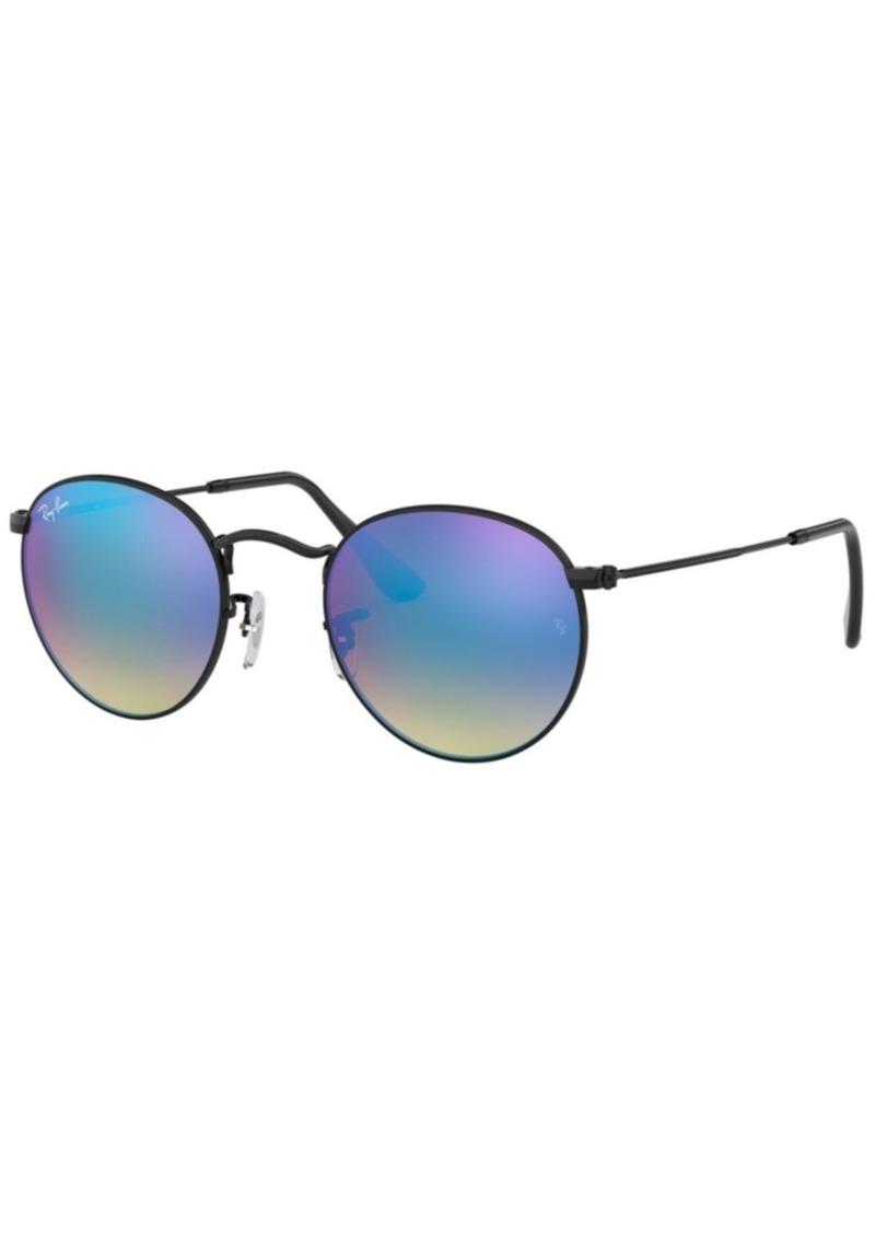 Ray-Ban Sunglasses, RB3447 Round Flash Lenses
