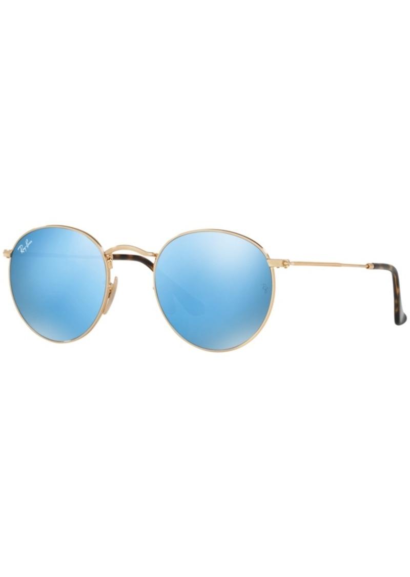 Ray-Ban Sunglasses, RB3447N Round Flat Lenses