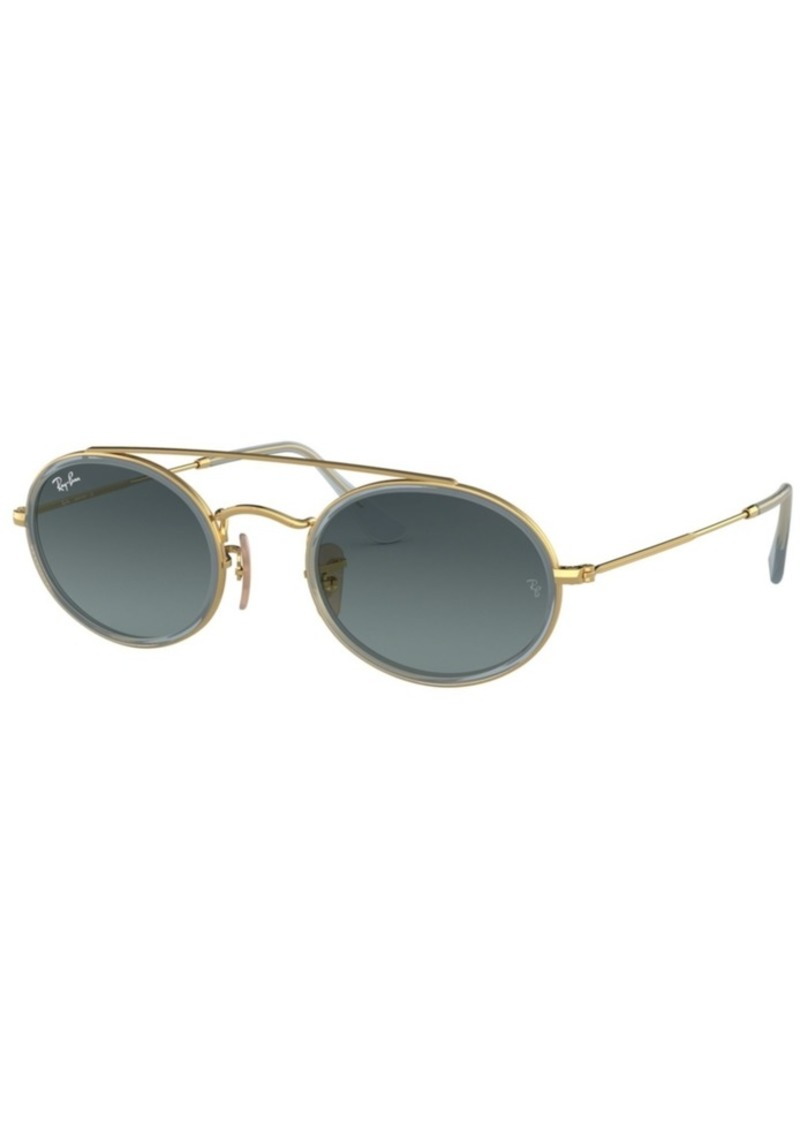 Ray-Ban Sunglasses, RB3847N Oval Double Bridge