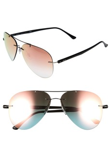 Ray-Ban Tech 59mm Aviator Sunglasses