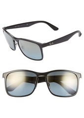 Ray-Ban Tech 62mm Polarized Wayfarer Sunglasses