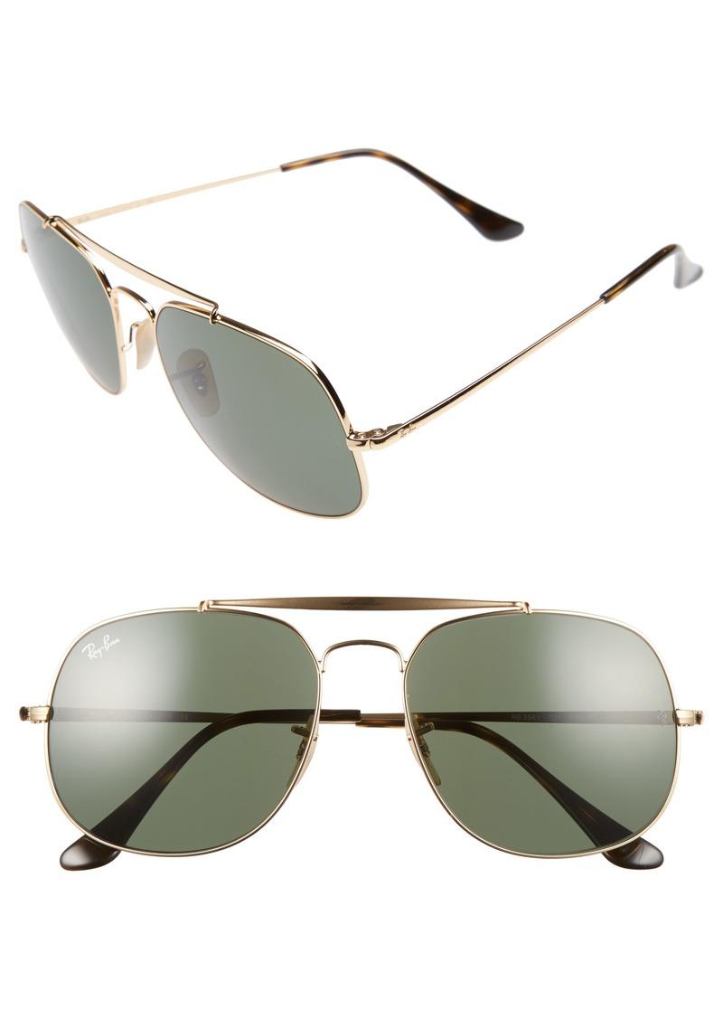 ed4249bc5e Ray-Ban Ray-Ban The General 57mm Aviator Sunglasses