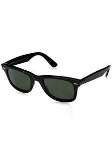 Ray-Ban Unisex-Adult Wayfarer Polarized Square Sunglasses BLACK 50.0 mm