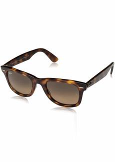 Ray-Ban Unisex-Adult Wayfarer Square Sunglasses RED HAVANA 53.9 mm