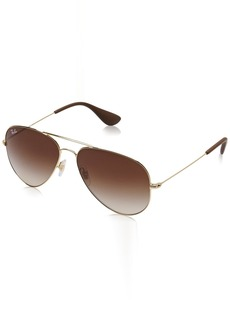 Ray-Ban Unisex Aviator Metal Sunglasses (RB3558)